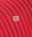 Merlotti 20305 Cavo Elettrico Rotondo H03VV-F 2x0.75, Rosso, 3 m