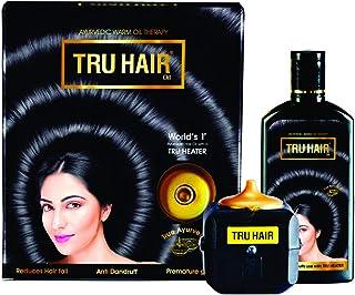 TRU HAIR Herbal Hair Oil 110ml with Tru Heater to Warm the Hair Oil