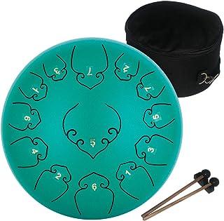 AMKOSKR Tambor de Lengua de Acero 12 Pulgadas 30cm 13Notas C Chiave,Instrumento de Percusión Tambor de Mano para Niño con ...