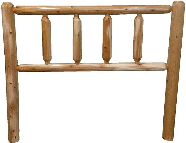 Rustic Cedar Log Head Board Headboard Queen Natural