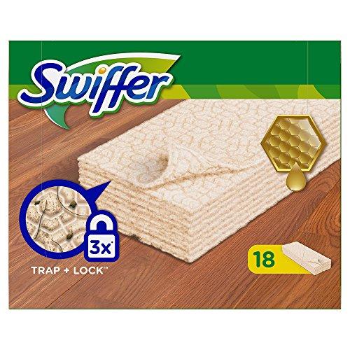 Swiffer Bodenwischer Trockene Bodentücher Nachfüllpackung für Holz & Parkett 18 St.