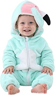 Baby Costume, Animal Cosplay Pajamas for Boys Girls Winter Flannel Romper Outfit 2T, Colorful One Piece
