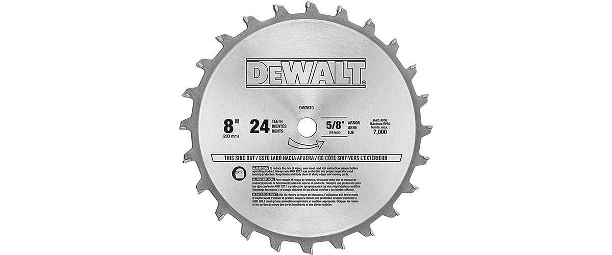 DEWALT Dado Blade Set, 8-Inch, 24-Tooth (DW7670)