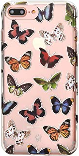 Velvet Caviar for Cute iPhone 8 Plus Case & iPhone 7 Plus Case Butterfly Clear for Women & Girls - Protective Phone Cases [Drop Test Certified] (Butterflies)