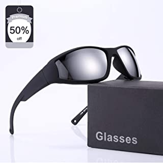 iKedin Polarized Motorcycle Sunglasses for Men and Women,...