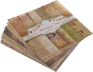 Baoblaze クラフト紙 ペーパークラフト スクラップブック用 装飾 手紙用 アルバム用 DIY 全3サイズ - レトロ