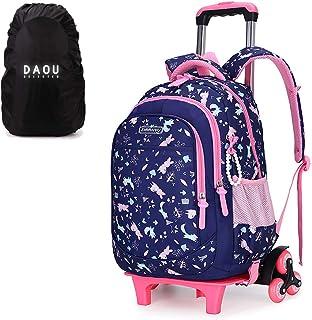 Zaino per la scuola con ruote, per bambini, trolley per la scuola, zaino per ragazze, 45 x 30 x 18 cm