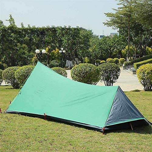 Lhak Portable outdoor tent Hiking camping tent outdoor shelter net mosquito repellents Guard picnic backpacking (Color : Green)