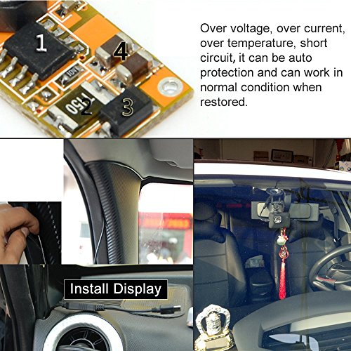 Hard Wire Charger Cord Cable Universal Micro USB Meters DC 12V to 5V Power Inverter Converter Regulator Kit for Car GPS Tablet Android DVR Camcorder Recorder by HitCar