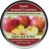 Stand Around Creations Premium 100% Soy Candle - 16 oz Tin - Scent: Apple Jack & Peel - A Scent of Apples and Oranges Blended w/Spices of Cinnamon, Clove, Nutmeg w/Ginger. Contains Essential Oils.