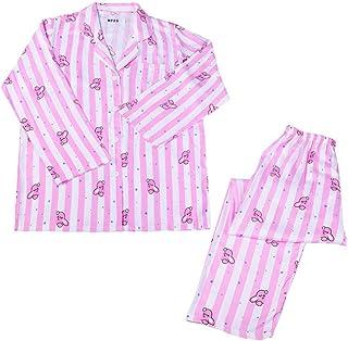 Conjunto de pijama para mujer de manga larga + pantalón Bangtan Boys BTS BT21 Cooky Chimmy Kaya Mang RJ Shoooky Tata, impresión de cómic, tipo de botón pijama