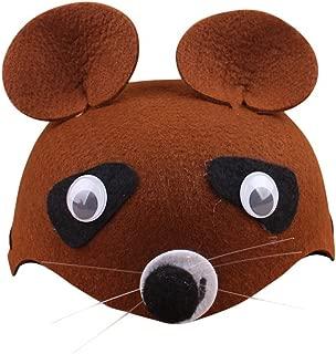 Remeehi Cartoon Animal Children Hats Kindergarten Role-Playing Children Theater Festival Dressed Head Decoration Brown Bear