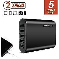 Flashmen 10A 50W 5-Port USB Charger (Black)