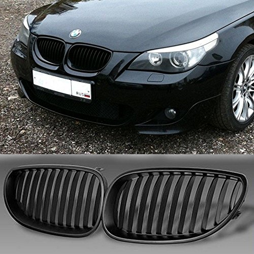 GSRECY Front Black Sport Wide Kidney Grilles Grill For BMW E60 E61 M5 5 Series 2003-2009