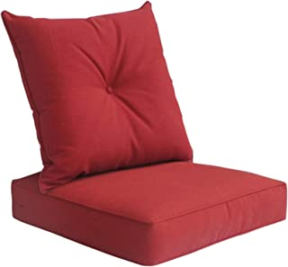 Gala Deep Seat Cushion with Button Set - Red