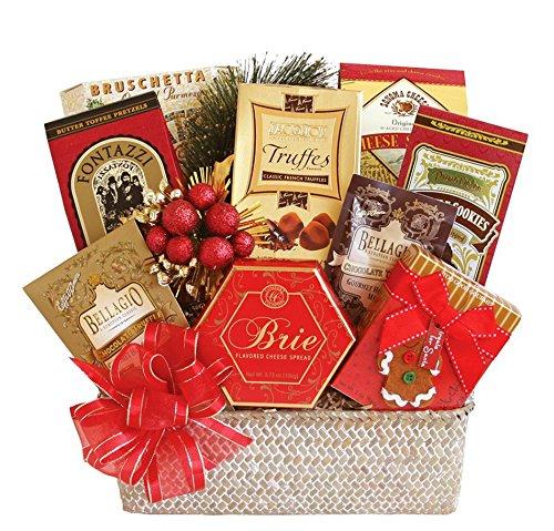 Festive Holiday Goodies - Gourmet Christmas Gift Basket