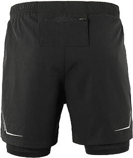 72f5e66ae4 Lixada Hombres Pantalónes Cortos de Running 2-en-1, Pantalones Cortos de  Atletismo