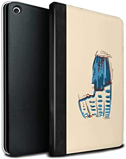 eSwish PU Leather Book/Cover Case for Apple iPad Mini 5 2019/5th Gen Tablets/Colosseum/Rome Design/Landmarks Collection