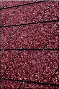 Gartenpirat Tejas bituminosas rectangulares para 3 m² color rojo