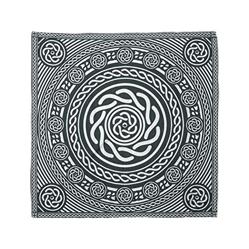 Lunarable Unisex Bandana, Celtic Irish Circular Insular Art, Blue White