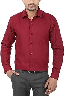 First Row Maroon Formal Shirt