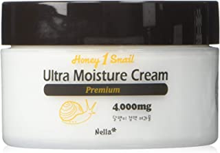 Nella Ultra Moisture Snail Cream, Enriched Snail Extract 4,000 mg and Honey, Korean Beauty, 80 ml