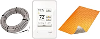 Schluter DITRA Floor Heat E Kit Wi-Fi Touchscreen Thermostat + DUO TB Membrane + Cable 120V 51 SqFt Heat Kit