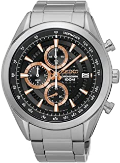 Mens Chronograph Quartz Watch with Stainless Steel Strap SSB199P1