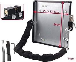 Gangkun Elektrische autoslot, batterijslot, diefstalbeveiliging, kettingslot, instelbaar, pedaal, bescherming, dekselslot,...