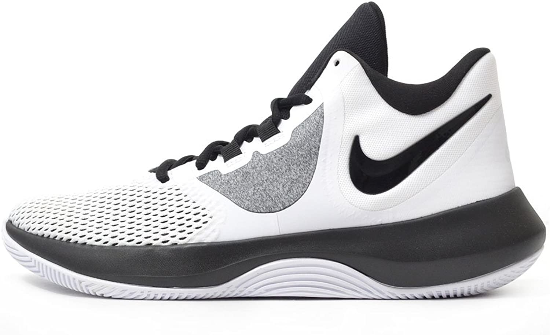 Nike Air Precision II Basketball shoes (M9.5 W11, White Black Platinum)