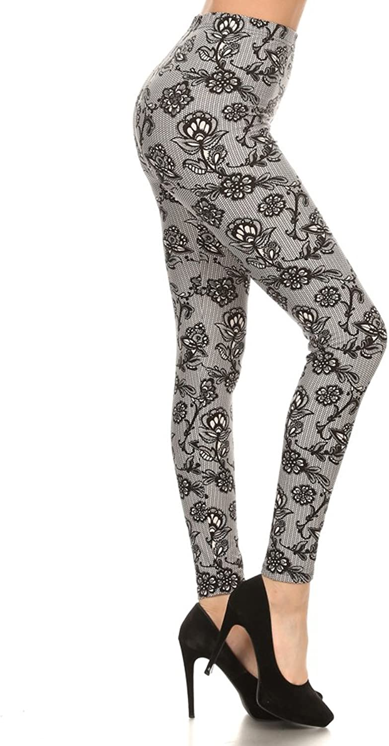 Leggings Depot Ultra Soft Women's Popular BEST Printed Fashion Leggings Batch7