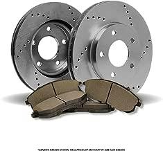 (Front Kit)2 OE SPEC Cross Drilled Brake Rotors & 4 SemiMet Pad(7lug)