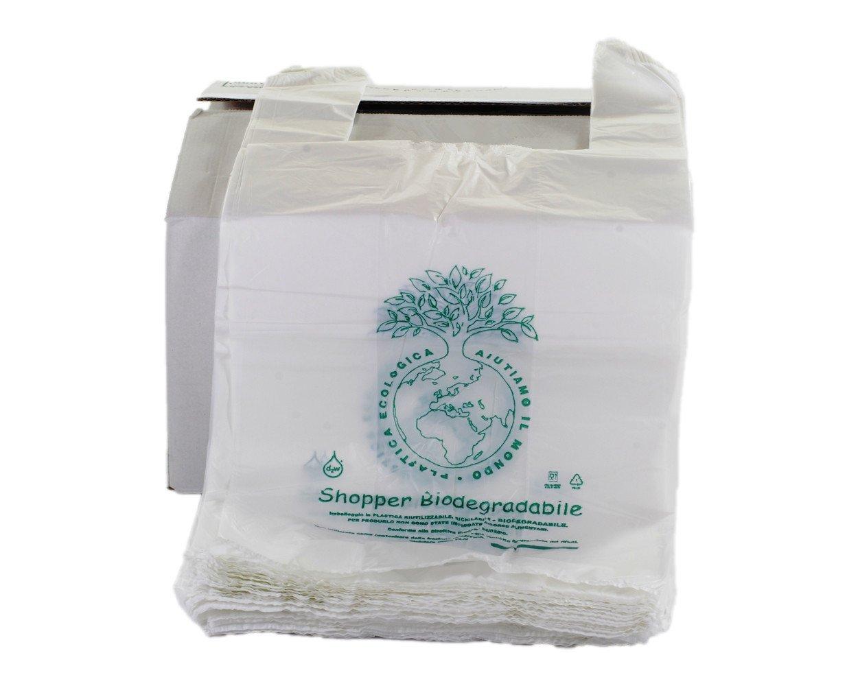 500 x Mini bolsas para la compra biodegradables y compostables con ...