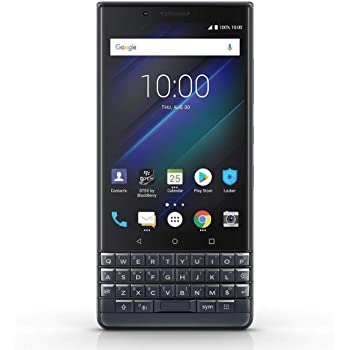 BlackBerry KEY2 LE (BBE-100-4) 64GB, Dual SIM, Dual 13MP+5MP Camera, 4GB RAM, GSM Unlocked International Model, No Warranty (Slate)