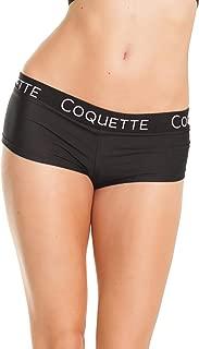 Coquette Womens Low Rise Microfiber Booty Short Elastic Logo Band Boyshort Underwear