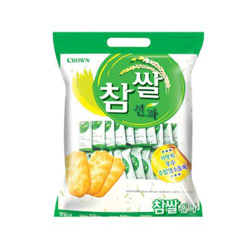 Crown Chamssal Seongwa Topics on TV 115g Korean 참쌀선과 Rice 2021 new