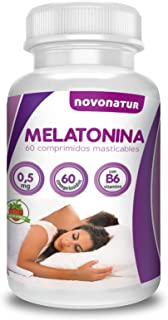 Melatonina 0.5mg con vitamina B6. 60 comprimidos