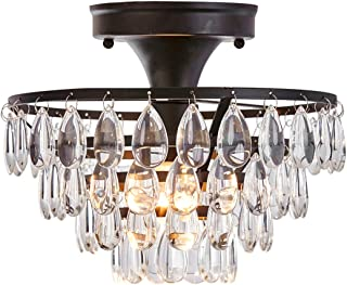 gold crystal ceiling light