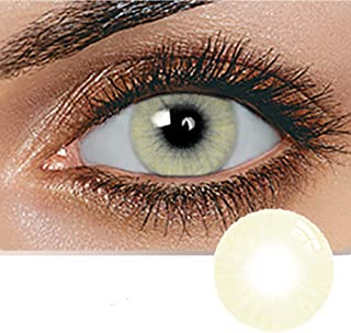 Unisex Contact Lenses, Natural and Beauty Collection Cosmetic Contact Lenses, 12 Months Disposable with Case- Crystal