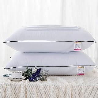 Almohadas de cama for adultos Almohada de trigo sarraceno 100% orgánico Cascos de trigo sarraceno premium Tecnología de enfriamiento natural: funda de almohada de algodón todo Tamaño estándar 74 × 48