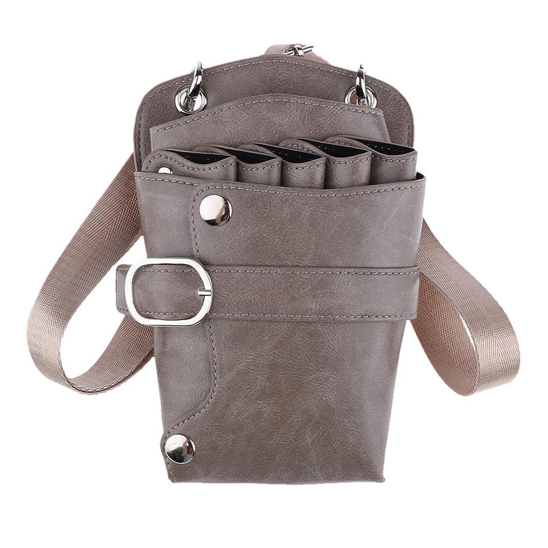 掃くピカソ想定シザーケース 美容師 ベルト ツールバッグ はさみホルダー 収納バッグ 収納ポーチ 5色選べ - カーキ