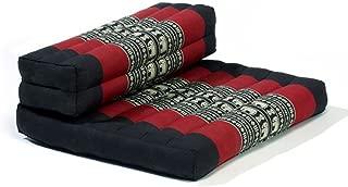 My Zen Home Dhyana Meditation Cushion, Black/Red