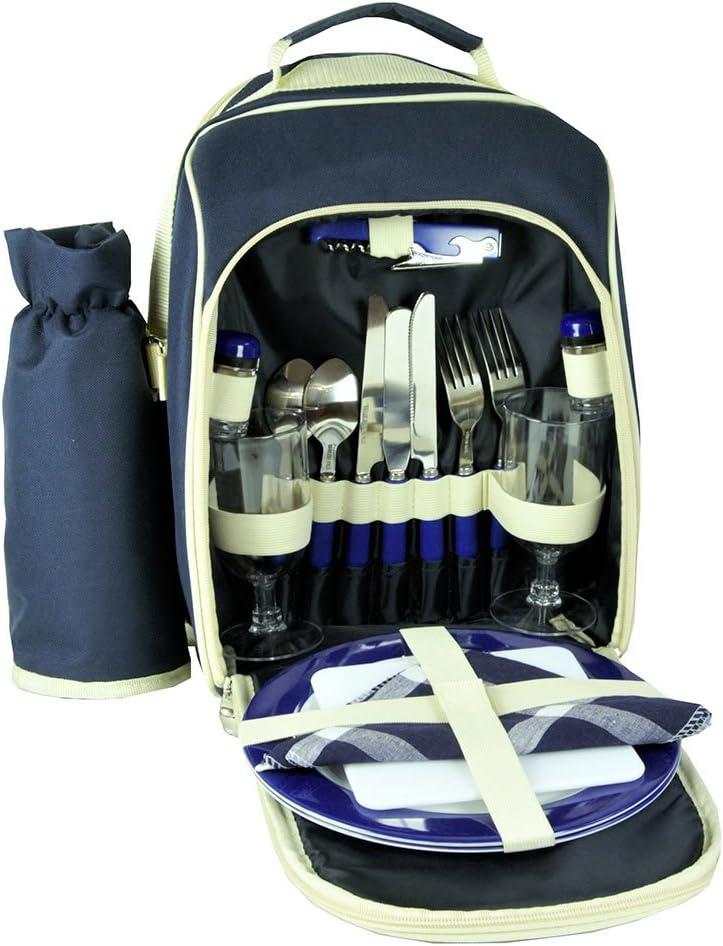 Les Jardins Factory outlet de la Comtesse Blue Picnic Backpack 2 New mail order Hiking Person