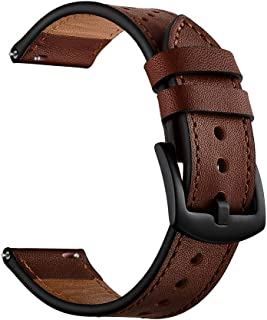 OXWALLEN Quick Release Leather Watch Band Top Grain Leather Watch Strap for Men and Women Choice of Width 18mm, 20mm, 22mm Watch Band, Please add to cart by Size Chart.