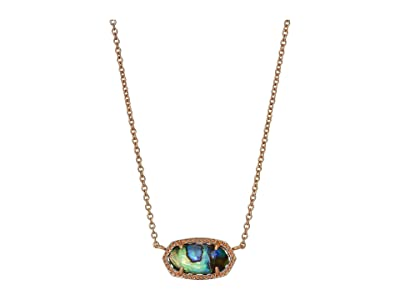 Kendra Scott Elisa Necklace (Rose Gold Abalone Shell) Necklace