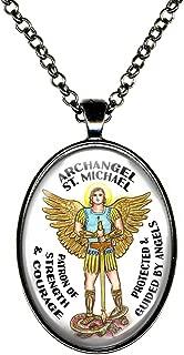 My Altar Archangel Saint Michael Patron of Strength & Courage Huge Pendant