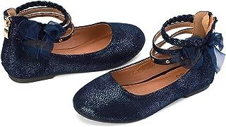 Girl's Princess Dress Shoes Ankle Strap Glitter Ballet Flats (Little/Big Kid)