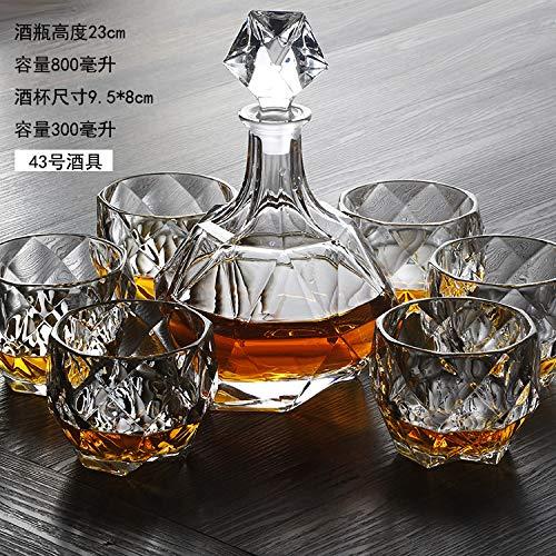 GAO Gaoréveillez-Vous avec Une Bouteille De Vin De Whisky Couverte De Vin Rouge De Vin Rouge De Cristal 43 Ensemble De Vin