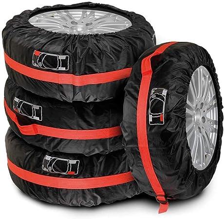 Agkupel Reifentaschen Set 4 Stück Autorädertaschen Auto Reifen Taschen Reifenschutz Passend Für 19 23 Zoll Große Autoreifen Mit Reifenposition Aufdruck Und Griff Auto