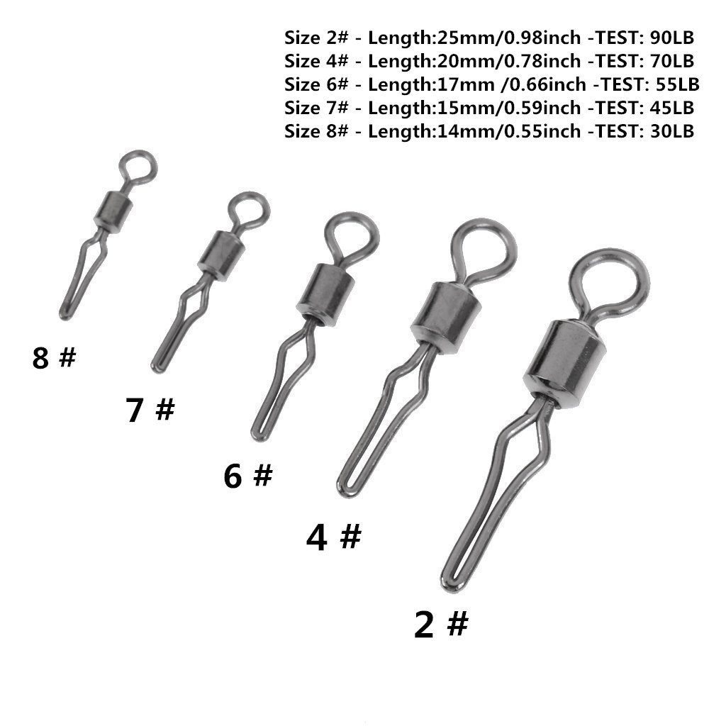 Kathy store INC Ear Ball Jigs Fishing Lure 1//0 Stainless Steel Swivel Connector 5- Pcs